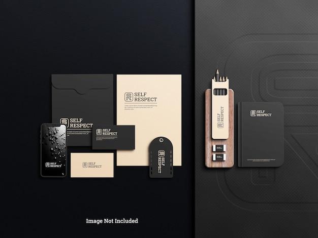 Briefpapiermodell mit elegantem schatten