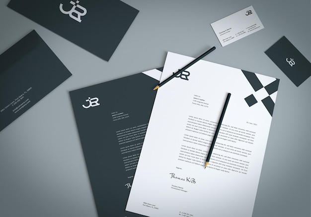 Briefpapierset business-mockup-design Premium PSD