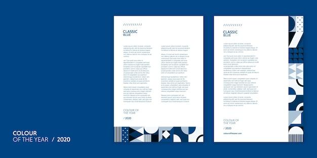 Briefvorlagenfarbe des jahres 2020