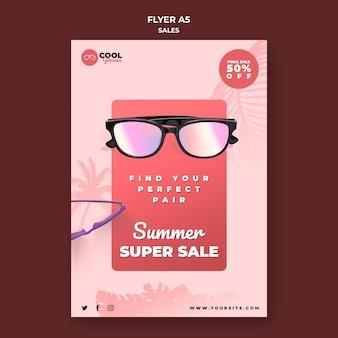 Brille verkaufsflyer vorlage