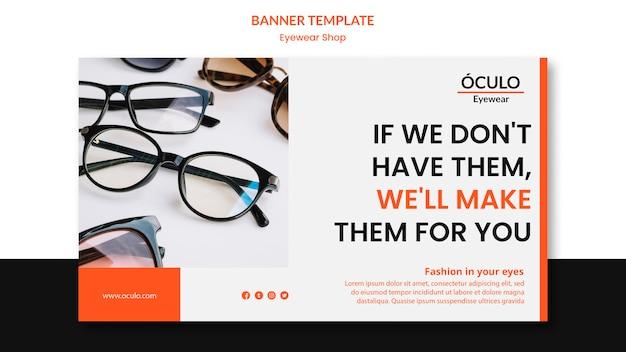 Brillengeschäft konzept-banner-vorlage