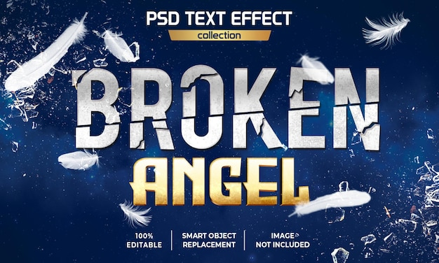 Broken angel film texteffekt-design