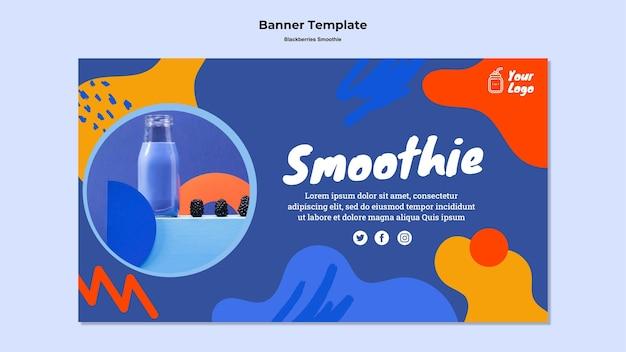 Brombeeren smoothie banner vorlage