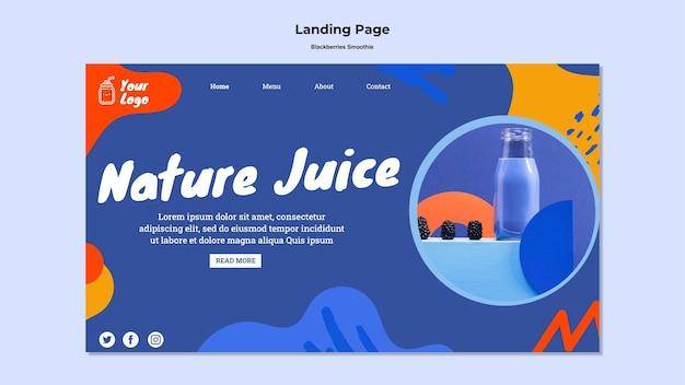 Brombeeren smoothie landing page