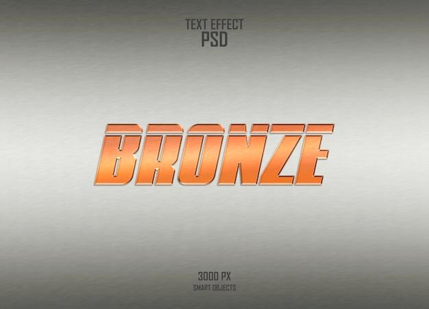 Bronze-texteffekt