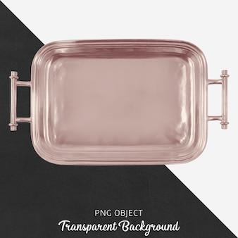 Bronzebehälter auf transparentem hintergrund