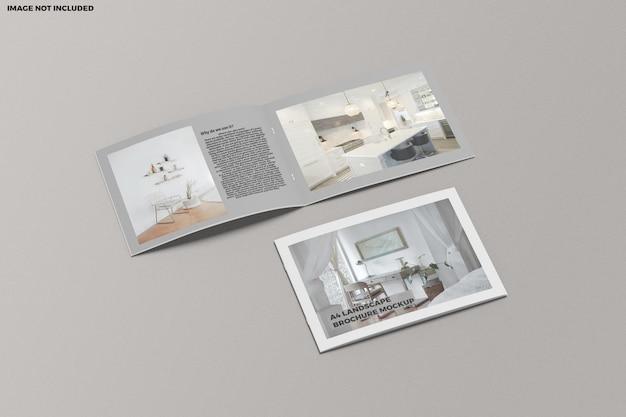 Broschüre a4 landschaftsmodell Premium PSD