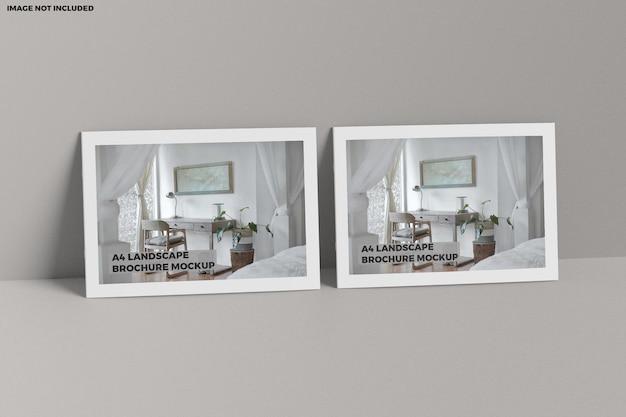 Broschüre a4 landschaftsmodell