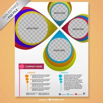 Broschüre mock-up kreatives design
