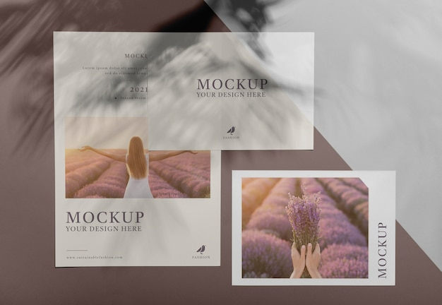 Broschüre schattenauflage modell