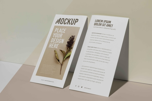Broschüre studio design mockup