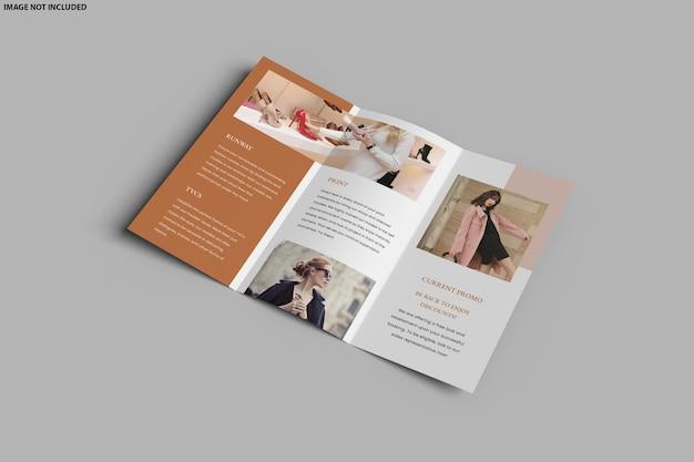 Broschüre trifold mockup design isoliert