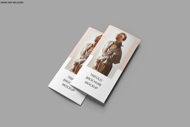 Broschüre trifold mockup design isoliert Premium PSD