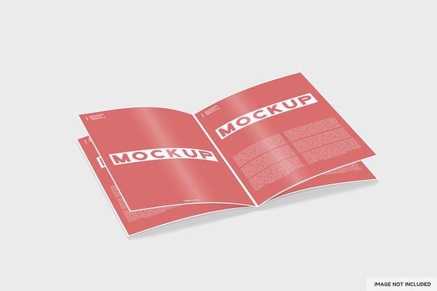 Broschürenmagazinmodell mit perspektivischer ansicht