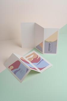Broschürenmodell der abstrakten formen