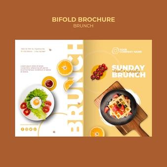 Broschürenvorlage mit brunch-thema