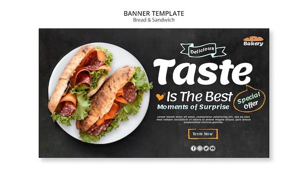 Brot und sandwich banner thema