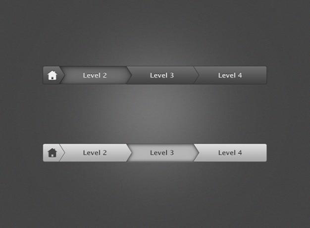 Brotkrumen-navigation photoshop ui-steuerelement