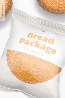 Brotpaket mockup, nahaufnahme