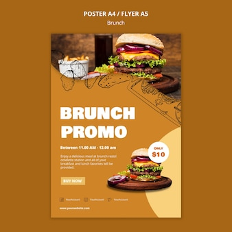 Brunch poster vorlage
