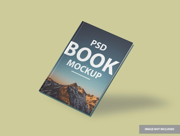 Buch hardcover mockup design isoliert