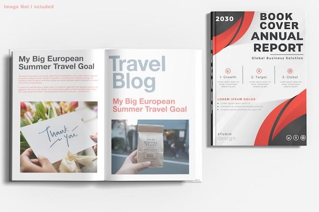 Buch mockup design isoliert