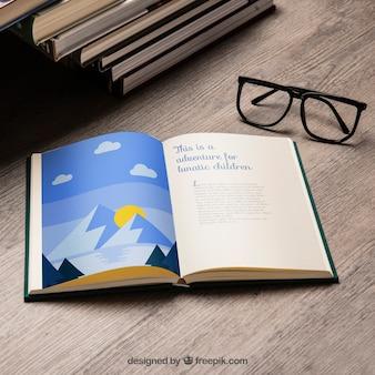 Buch mockup hautnah