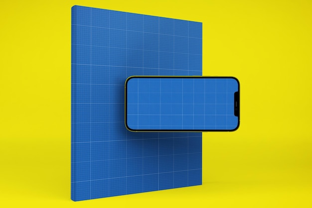 Buch & smartphone-modell