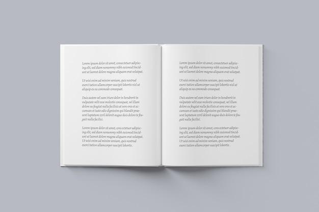 Buch- und zeitschriften-spread-mockup
