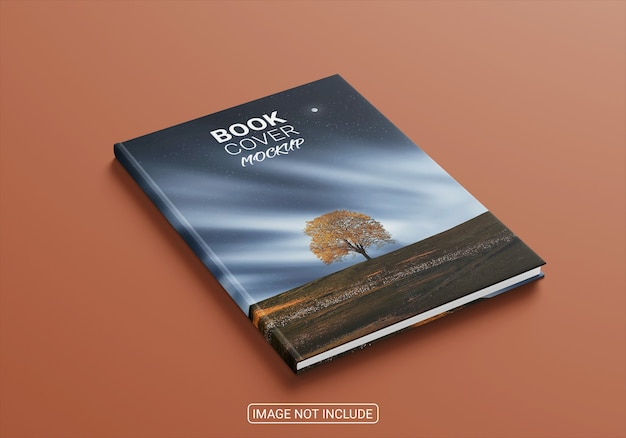 Buch- und zeitschriftencover-modell isoliert