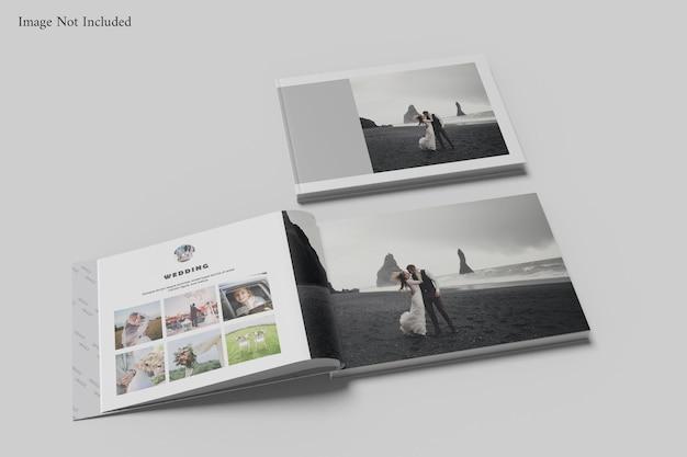 Buchalbum-modell im querformat