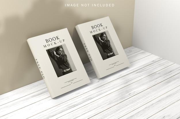 Buchcover-modell mit schattenüberlagerung