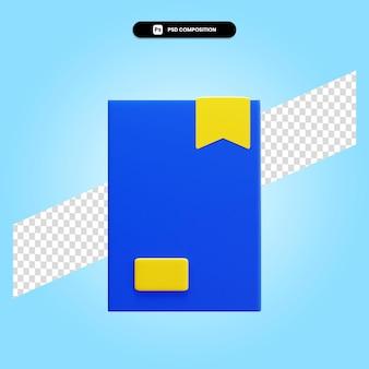 Buchen sie 3d-render-illustration isoliert