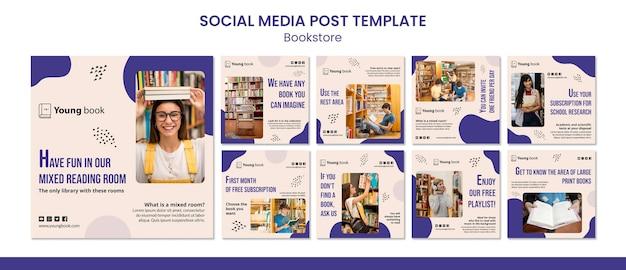 Buchhandlung social media post vorlage