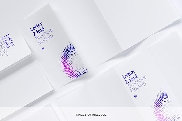 Buchstabe z-fach broschüre modell