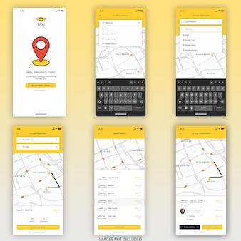 Buchungs app mobile ui kit