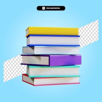 Bücher 3d-render-illustration isoliert