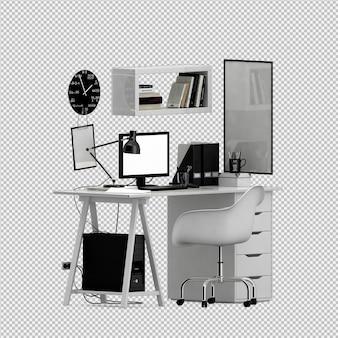 Büromöbel eingestellt