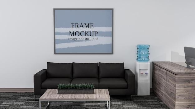 Büroraum wartebereich wandmodell