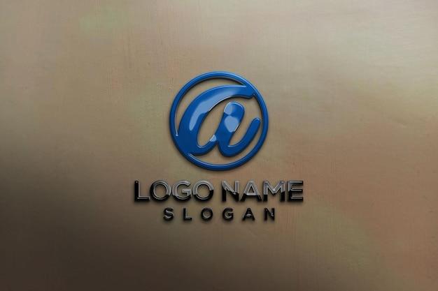 Bürowand 3d-mockup-logo