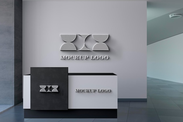 Bürowand logo mocku Kostenlosen PSD