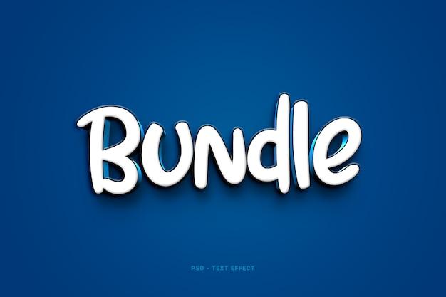 Bundle-textstil-effekt