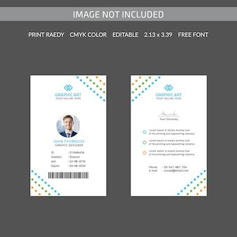 Bunte ausweiskarte