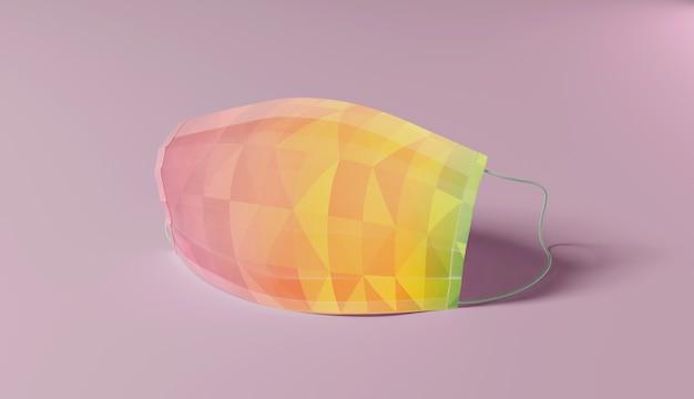 Bunte designschutzmaske