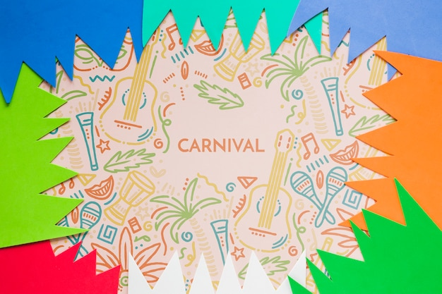 Bunte karnevalsausschnitte