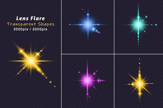 Bunte lens flare-kollektion