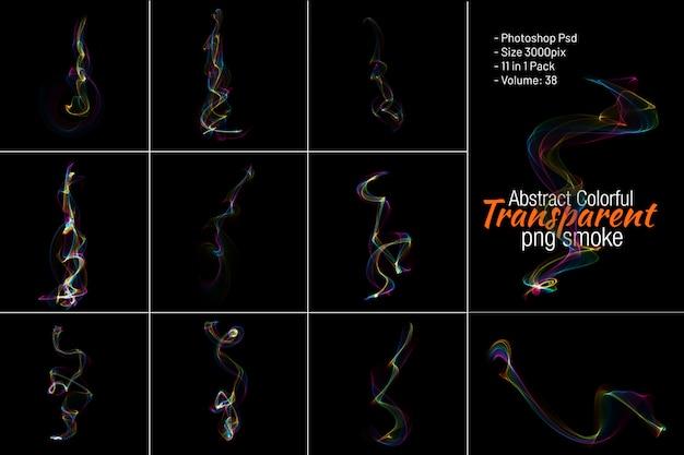 Bunter abstrakter rauch transparent