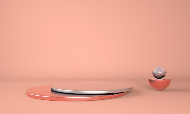 Bunter sockel zur anzeige im 3d-rendering