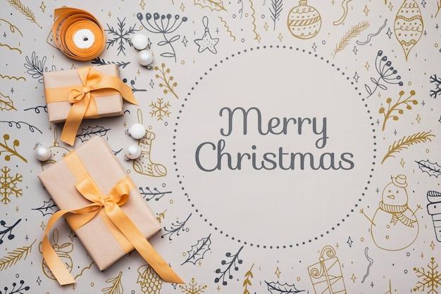 Buntes konzeptmodell der frohen weihnachten