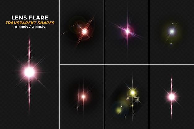 Buntes lens flare-licht